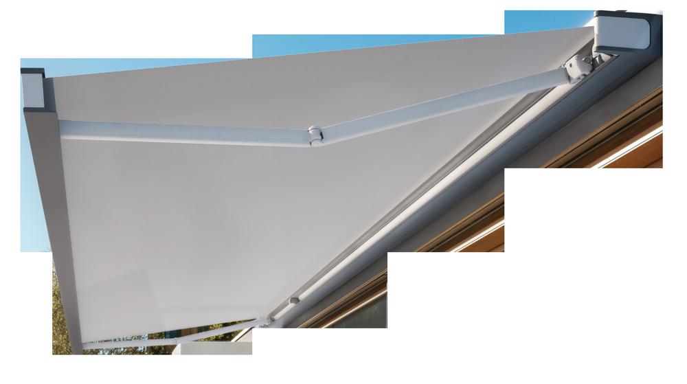 Dettaglio tenda da sole a bracci - Infissi e serramenti Fratelli Bosio Srl Torino